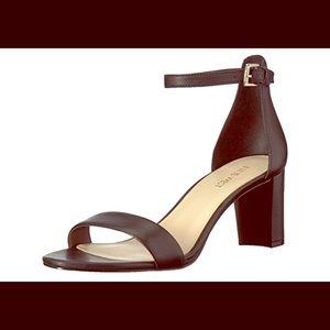 Nine West Women's Pruce Leather Heeled Sandal, 9M